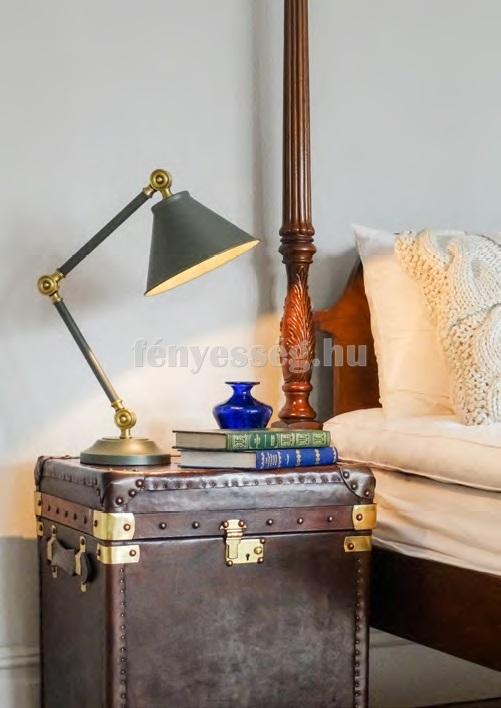 Elstead 1izzós mini asztali lámpa provence szürke enteriőr