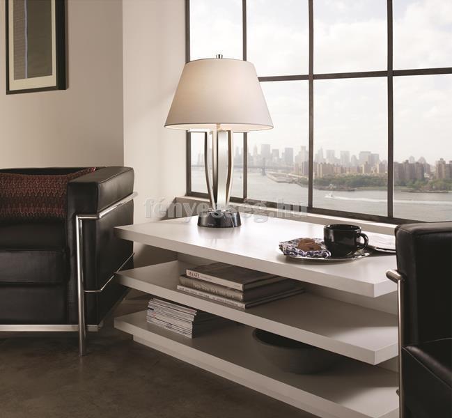 feiss 1izzos asztali lampa silvershore enterior