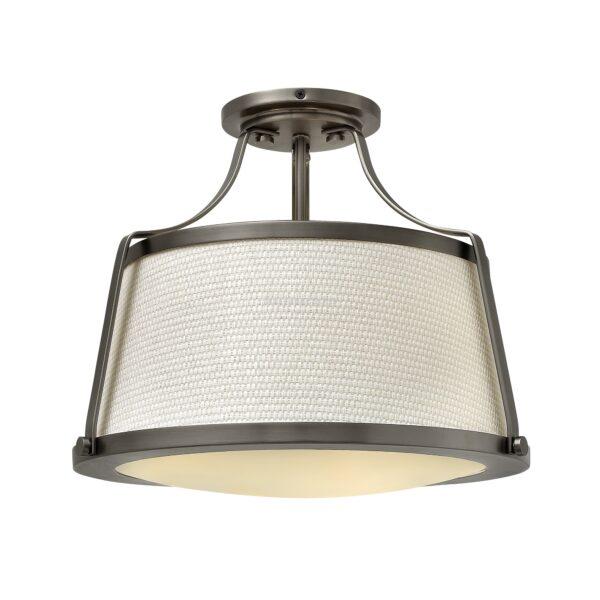 hinkley 3izzos mennyezeti lampa charlotte antik nikkel