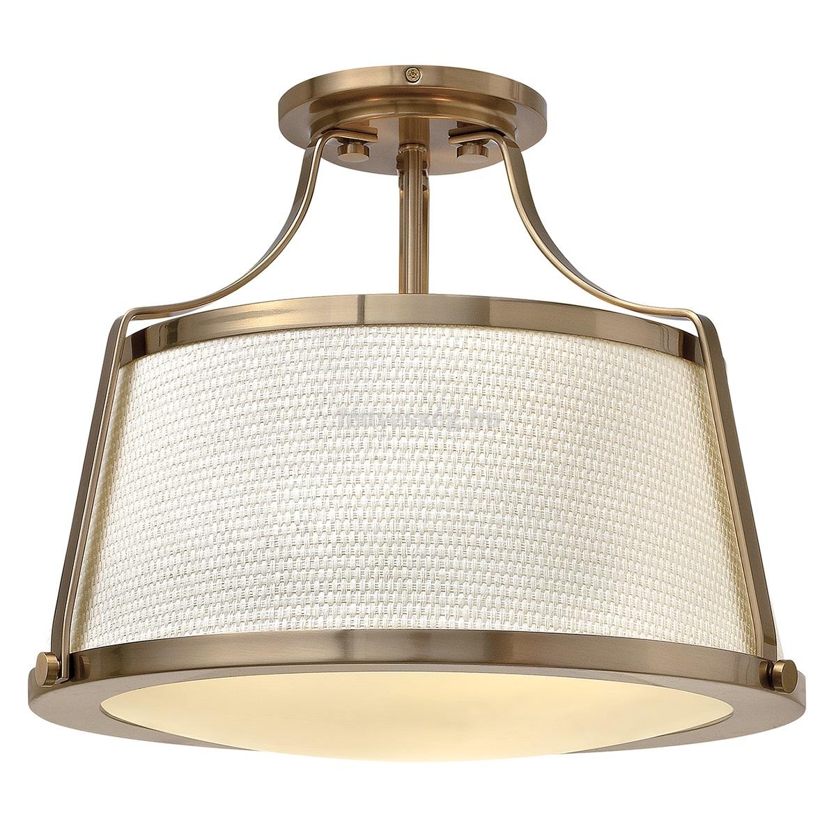 Hinkley 3izzós mennyezeti lámpa charlotte karamell
