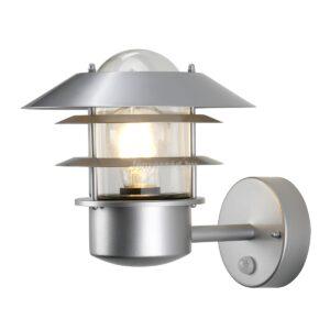 Elstead 1izzós mozgásérzékelős fali lámpa helsingor ezüst