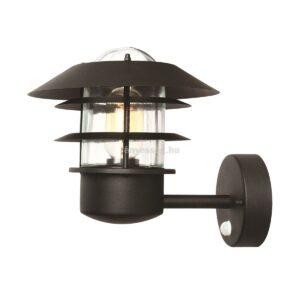 Elstead 1izzós mozgásérzékelős fali lámpa helsingor fekete
