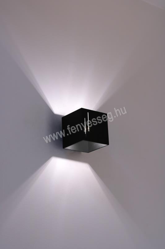 lampex 1izzos fali lampa quado modern 692 b cza felkapcsolva