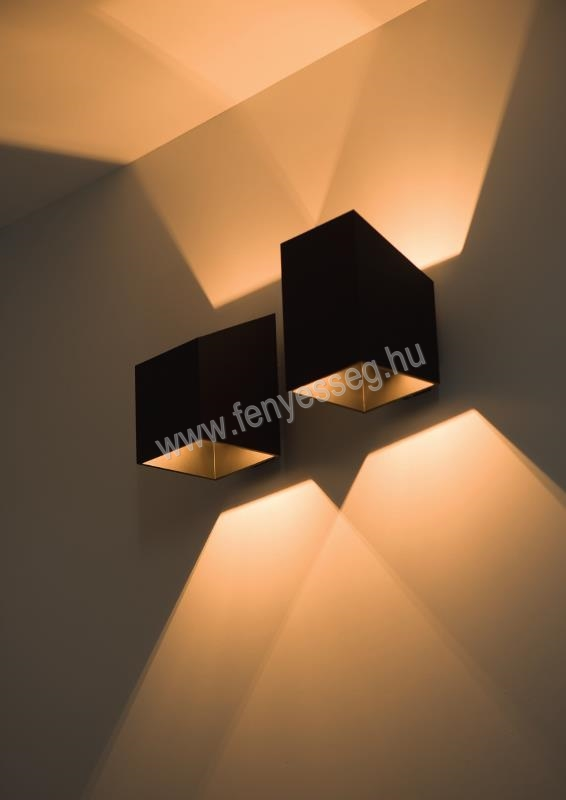 lampex 1izzos fali lampa rubik 625 k kr cza felkapcsolva