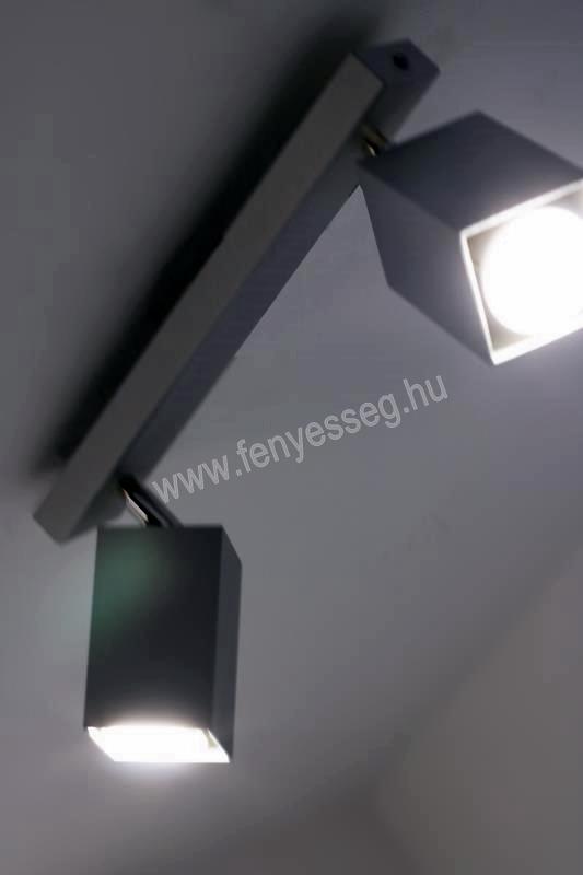lampex 2izzos mennyezeti lampa nero 718 2 cza felkapcsolva