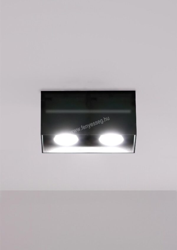 lampex 2izzos mennyezeti lampa quado pro 689 2 cza felkapcsolva