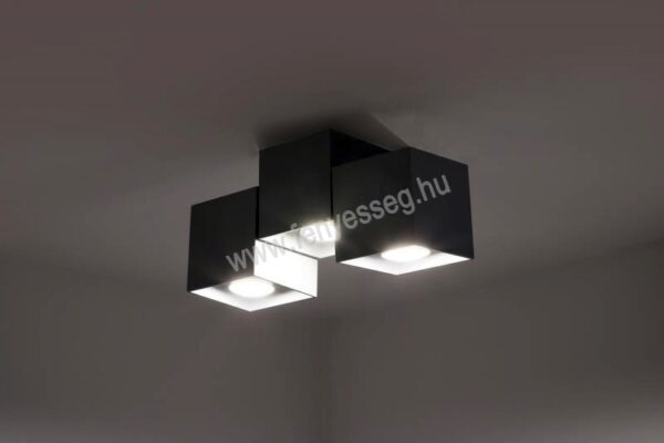 lampex 3izzos mennyezeti lampa kraft 650 3 cza felkapcsolva