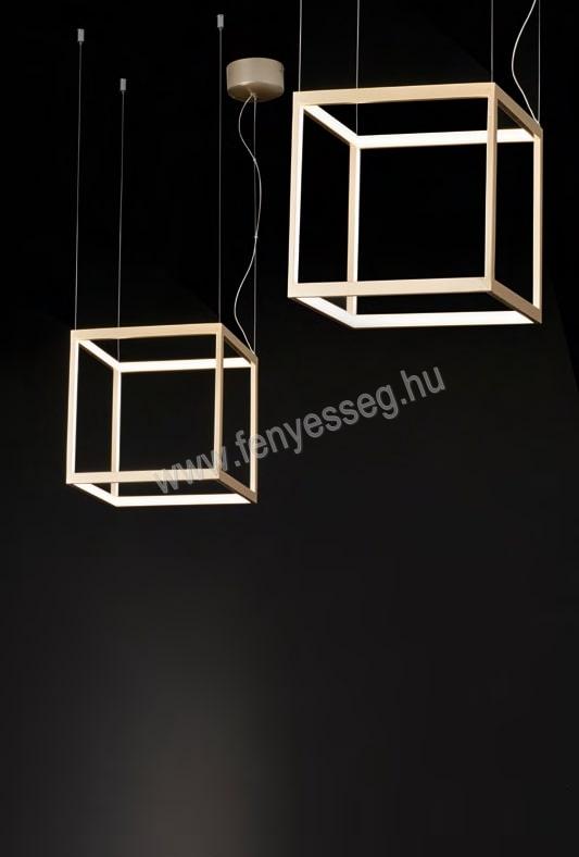 viokef led fuggesztek gold cube 4207000 felkapcsolva